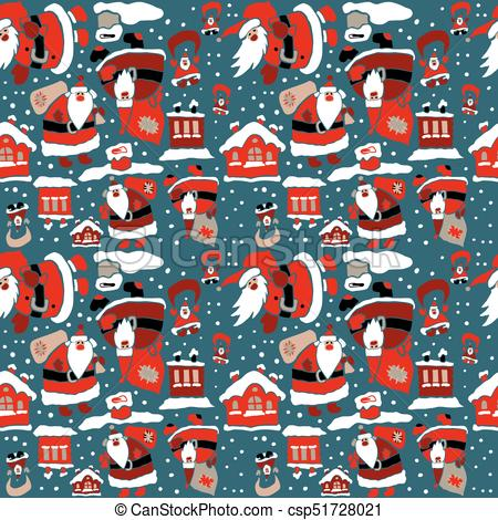 Cartoon Christmas wrapping paper.