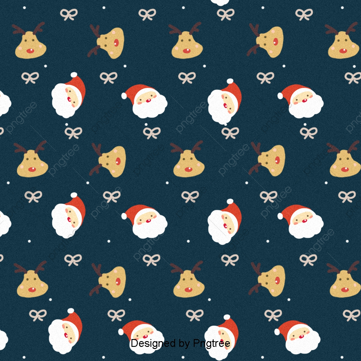 Lovely Santa Claus And Reindeer Paved Background, Background.