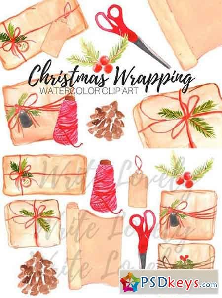 Christmas Wrapping Paper Clip Art 2043184 » Free Download Photoshop.