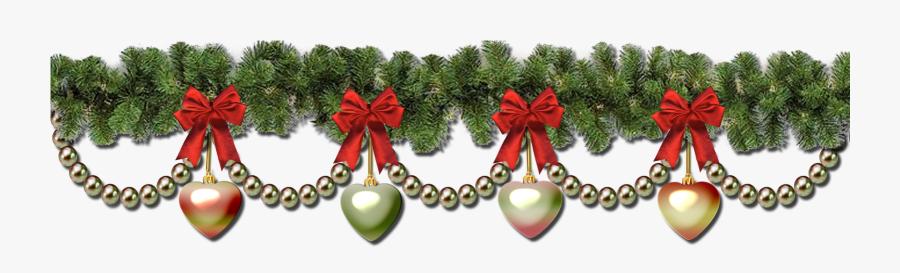 Christmas Garland Border Transparent Christmas Wreath.