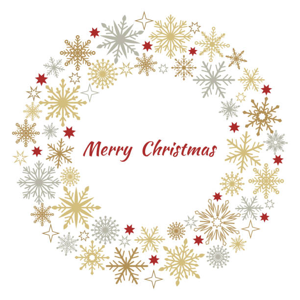 Best Christmas Wreath Illustrations, Royalty.