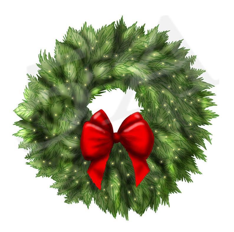 50% OFF Christmas Wreath Clipart Clip art, Wreath clipart, Xmas Wreath,  Holiday Wreaths, DIY, Gift Cards, Christmas Decorations, PNG.