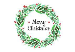 Christmas Wreath Free Vector Art.