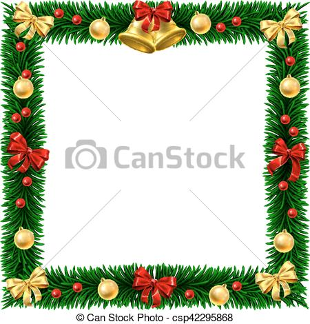 Christmas Wreath Border Frame.