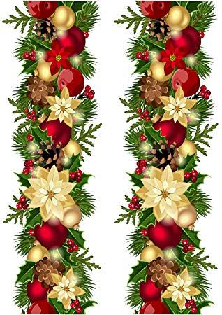 Top That Edible Decor Sheet Christmas Wreath Garland Border Ribbon.