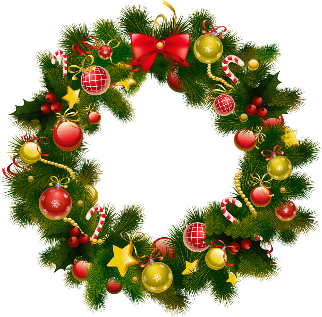Christmas Wreath Border Clipart.