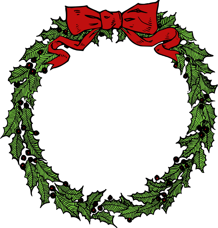 Free to Use & Public Domain Christmas Wreath Clip Art.