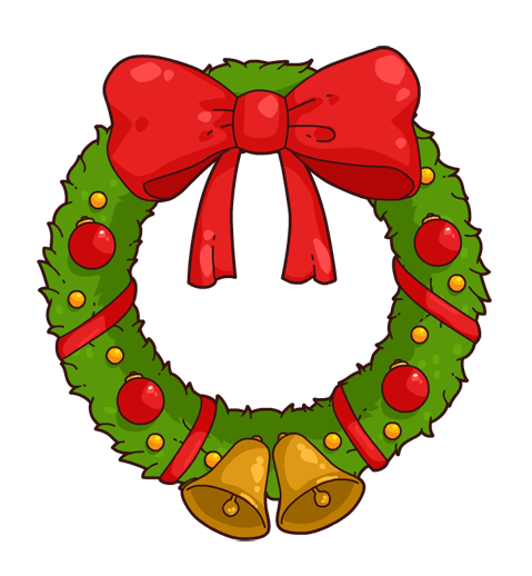 Free to Use & Public Domain Christmas Wreath Clip Art.