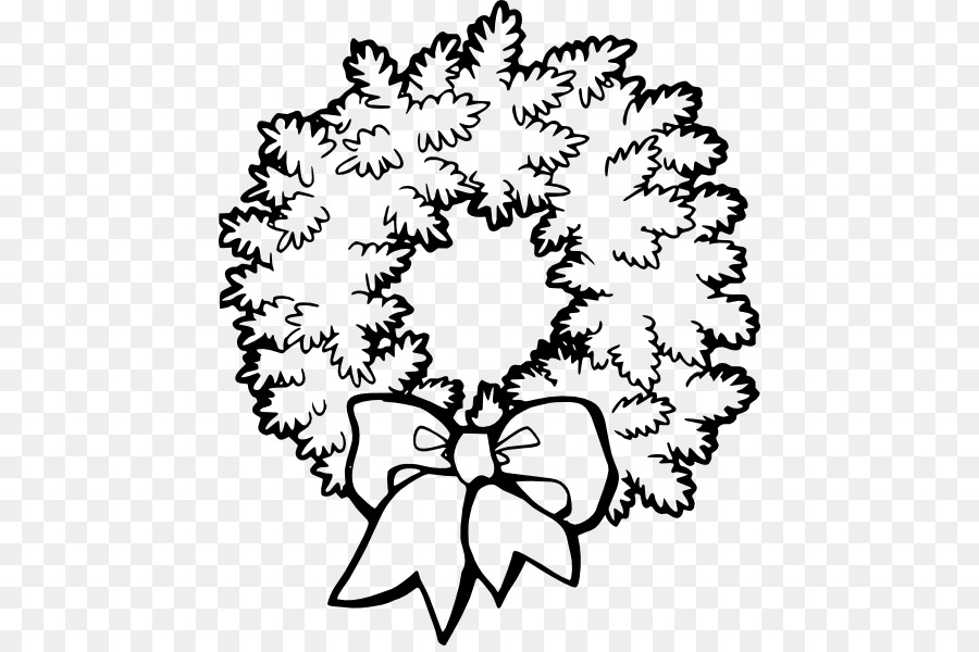 Christmas wreath clipart black and white 5 » Clipart Station.