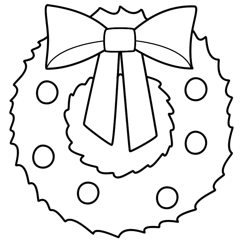 Christmas Wreath Clipart Black And White (96+ images in Collection.
