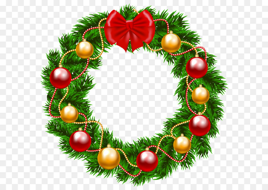 Free Christmas Wreath Clipart Transparent Background, Download Free.