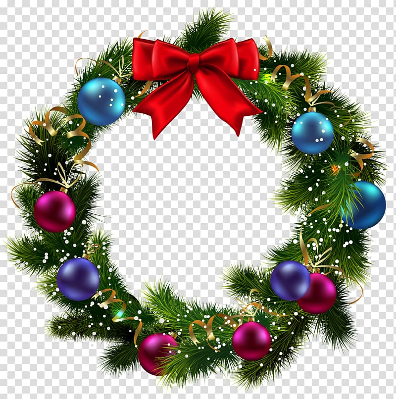Green and red wreath , Christmas Wreath Garland , Christmas.