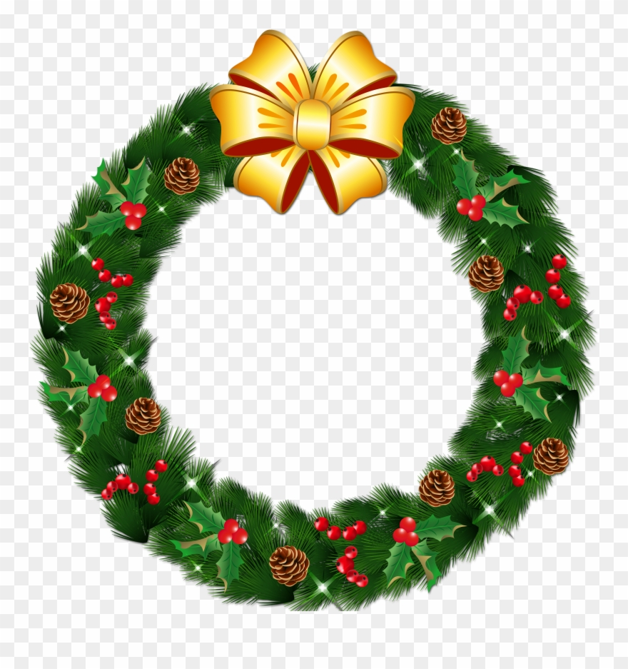 Christmas Wreath Png Clipart.