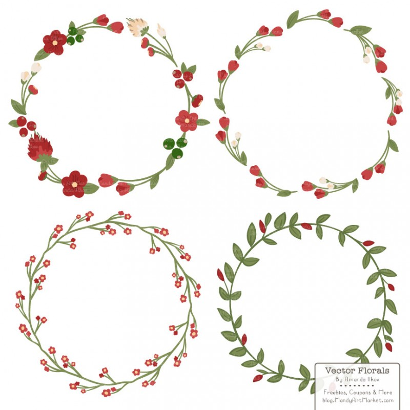 Christmas Wreath Clipart.Christmas Wreath Clipart Outline 89px Image 14