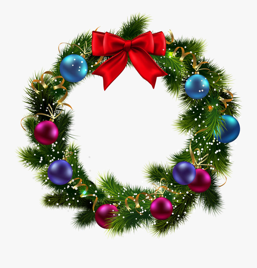 Transparent Background Christmas Wreath Png , Free.