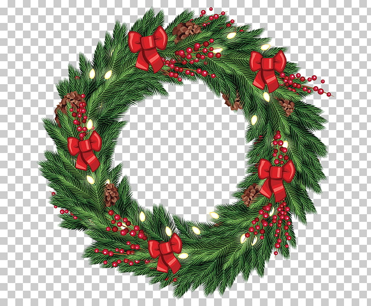 Wreath Christmas decoration Garland , Free Christmas Wreath.