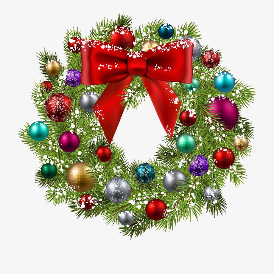 Ornaments Clipart Blue Christmas Wreath , Transparent.
