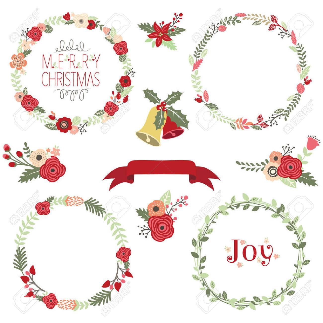 Christmas Wreath Clip Art.