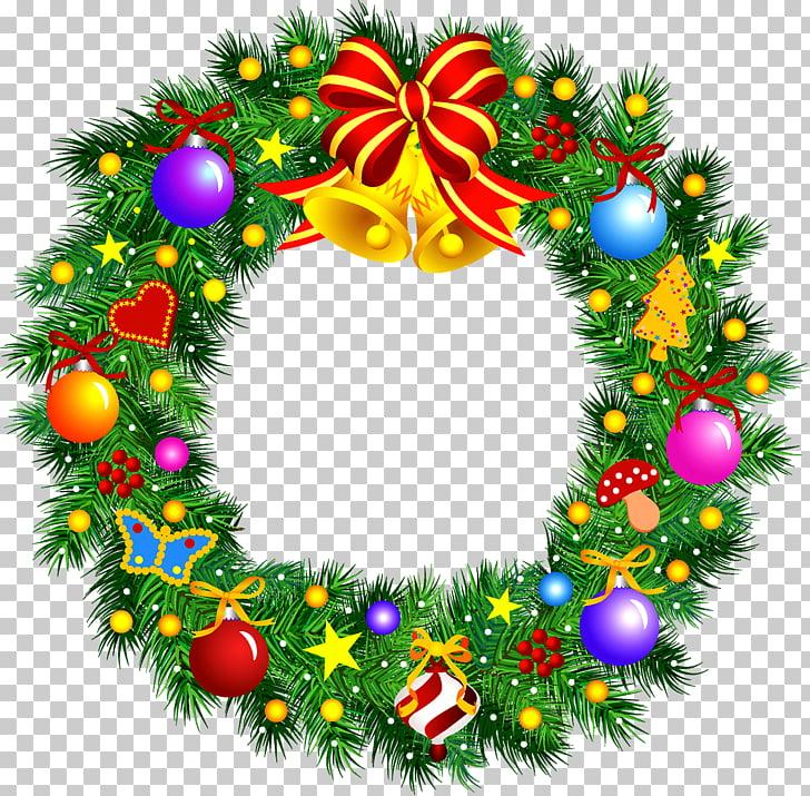 Christmas Wreath Garland , Christmas wreath PNG clipart.