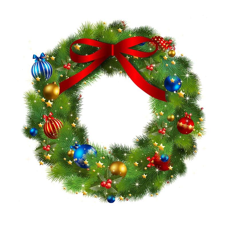 Christmas Wreath Garland , Christmas wreath transparent.