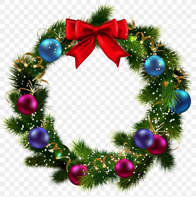 Christmas Wreath Garland Clip Art, PNG, 5083x5120px, Wreath.