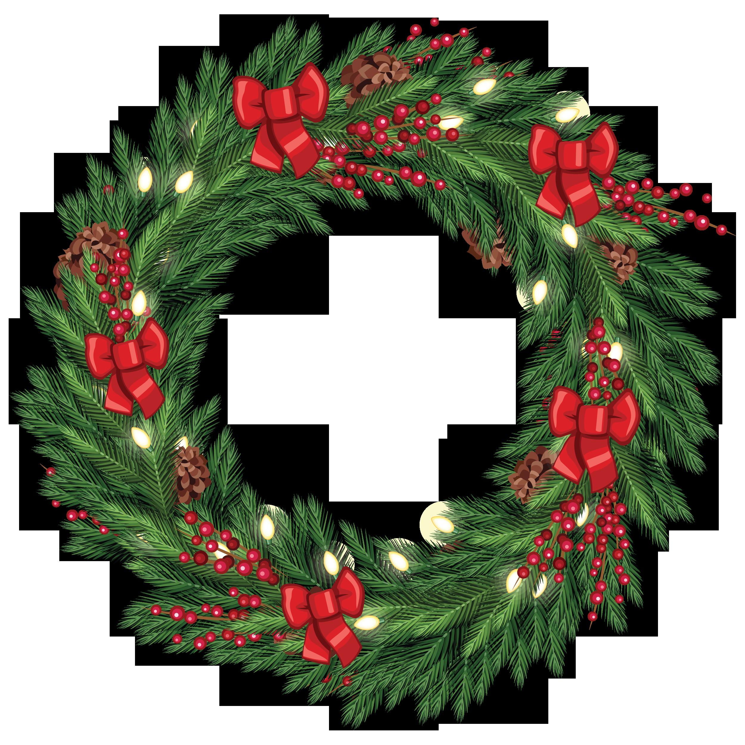 Free Christmas Wreath Graphic from TradigitalArt.