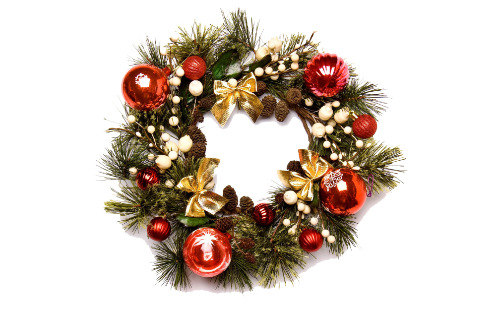 Download Christmas Wreath PNG Image 091.