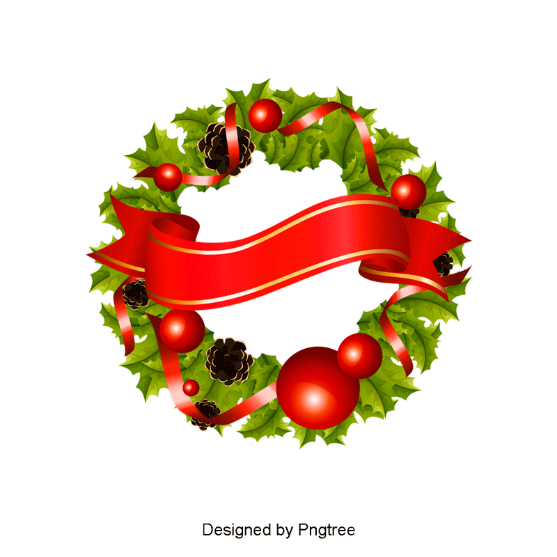 Christmas Wreath PNG Images.
