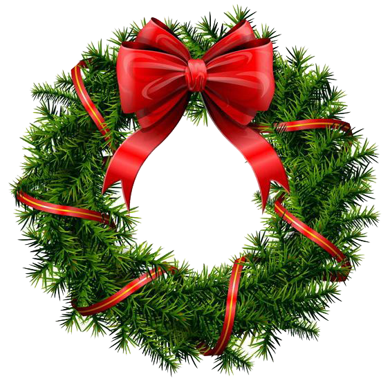 Download Christmas Wreath PNG File.