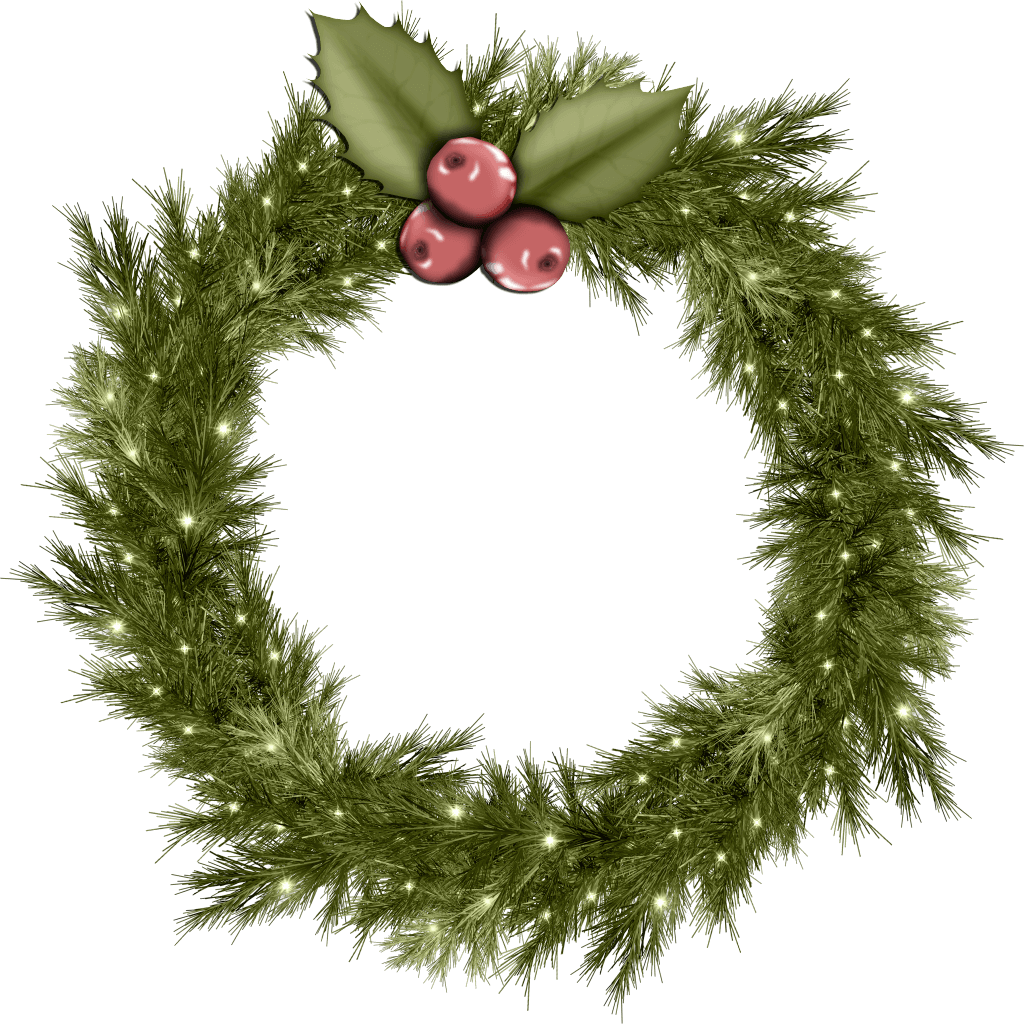 HD Christmas Wreath Png Images Photo.