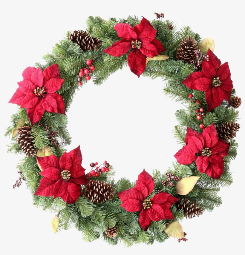 Green Christmas Wreath Png.