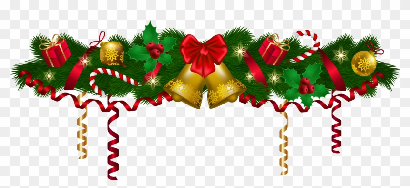 Christmas Deco Garland Png Clip Art Image.