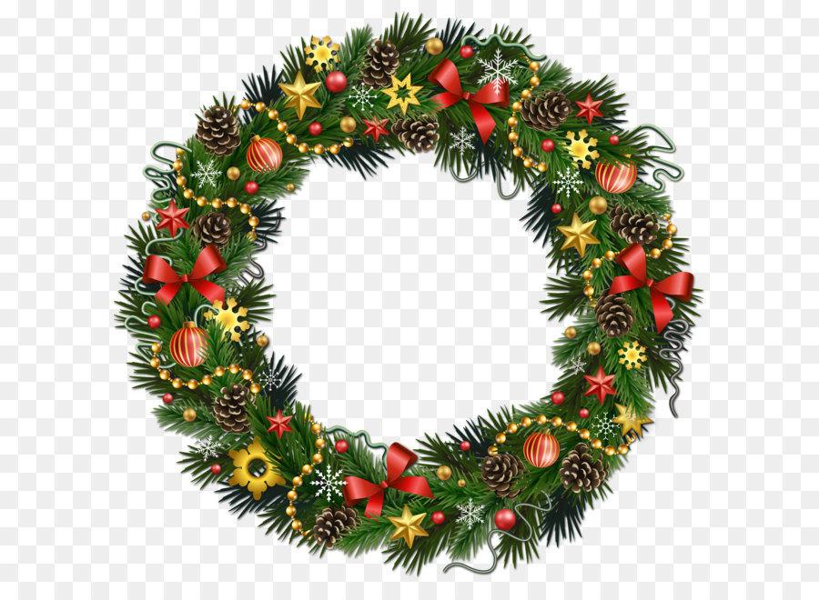 Rudolph Christmas Wreath Clip art.