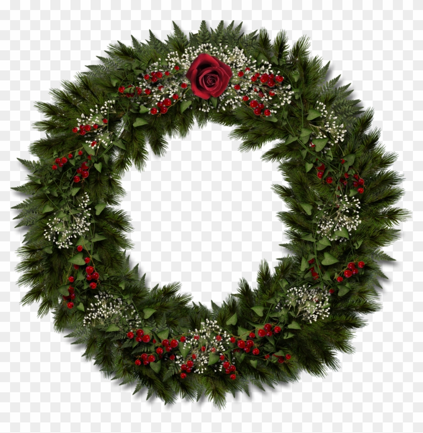 Transparent Christmas Wreath Clipart.