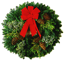 Christmas Wreath transparent background.