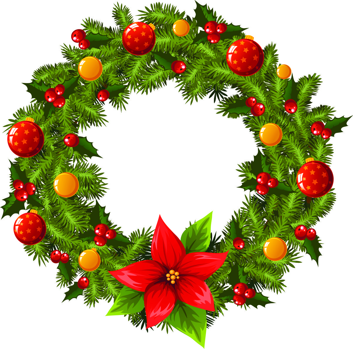 9 Christmas Wreath Vector Free Images.