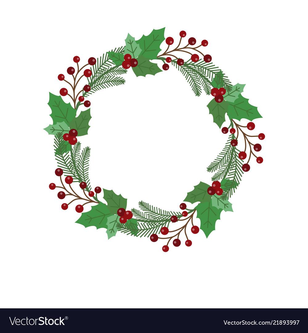 Christmas holiday wreath icon.