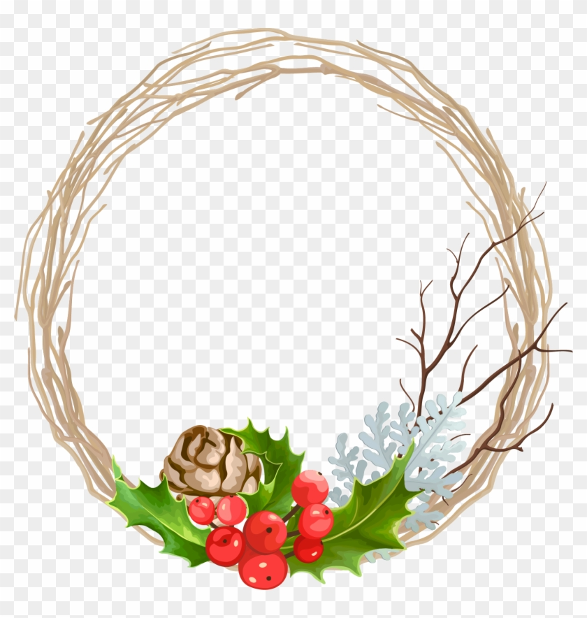 Vector Transparent Wreath Christmas Decoration Transprent.