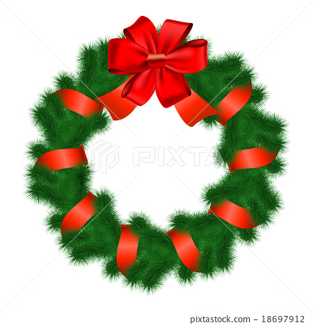 Christmas wreath. Vector.