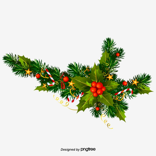 Vector Christmas Wreath, Vector Decorative Stars, Christmas Vector.