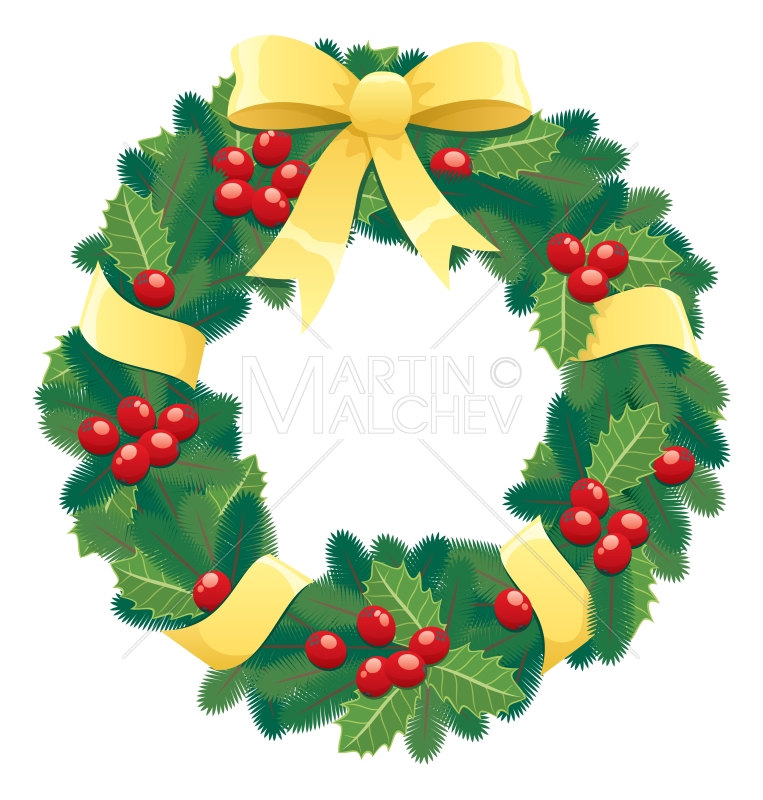 Christmas Wreath Vector Png, png collections at sccpre.cat.