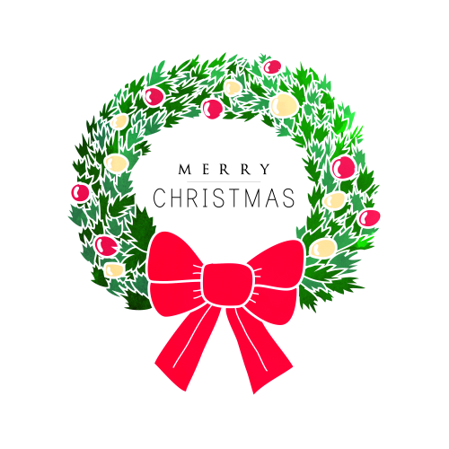 Merry Christmas Wreath Vector Pictures, Photos, and Images for.
