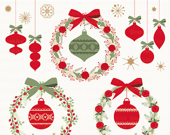 Items similar to Christmas clipart:
