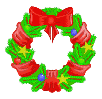 Free Christmas Wreath Clipart.