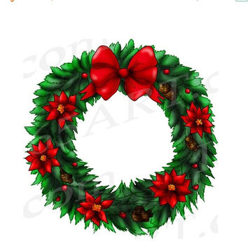 Clipart of christmas wreaths 2.