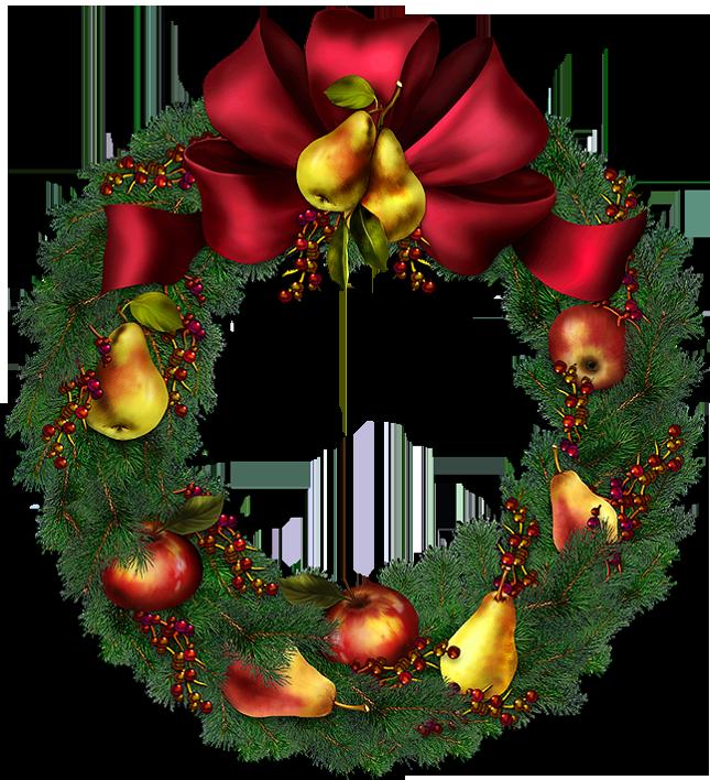 Clip art wreath christmas.