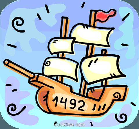 The Nina Christopher Columbus ship Royalty Free Vector Clip Art.