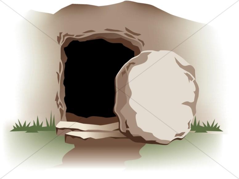 Empty Tomb with Stone.