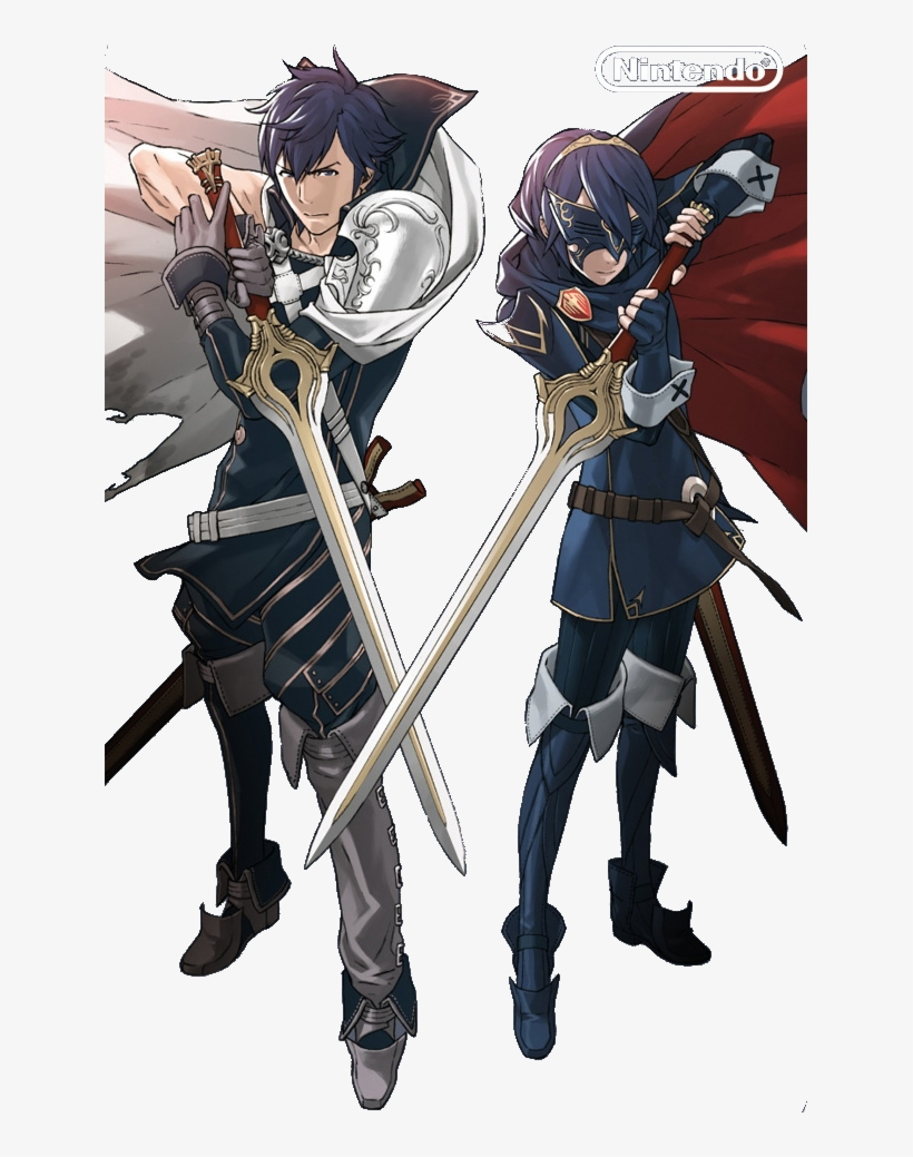 Image Chrom And Masked Lucina Png Fire Emblem Wiki.