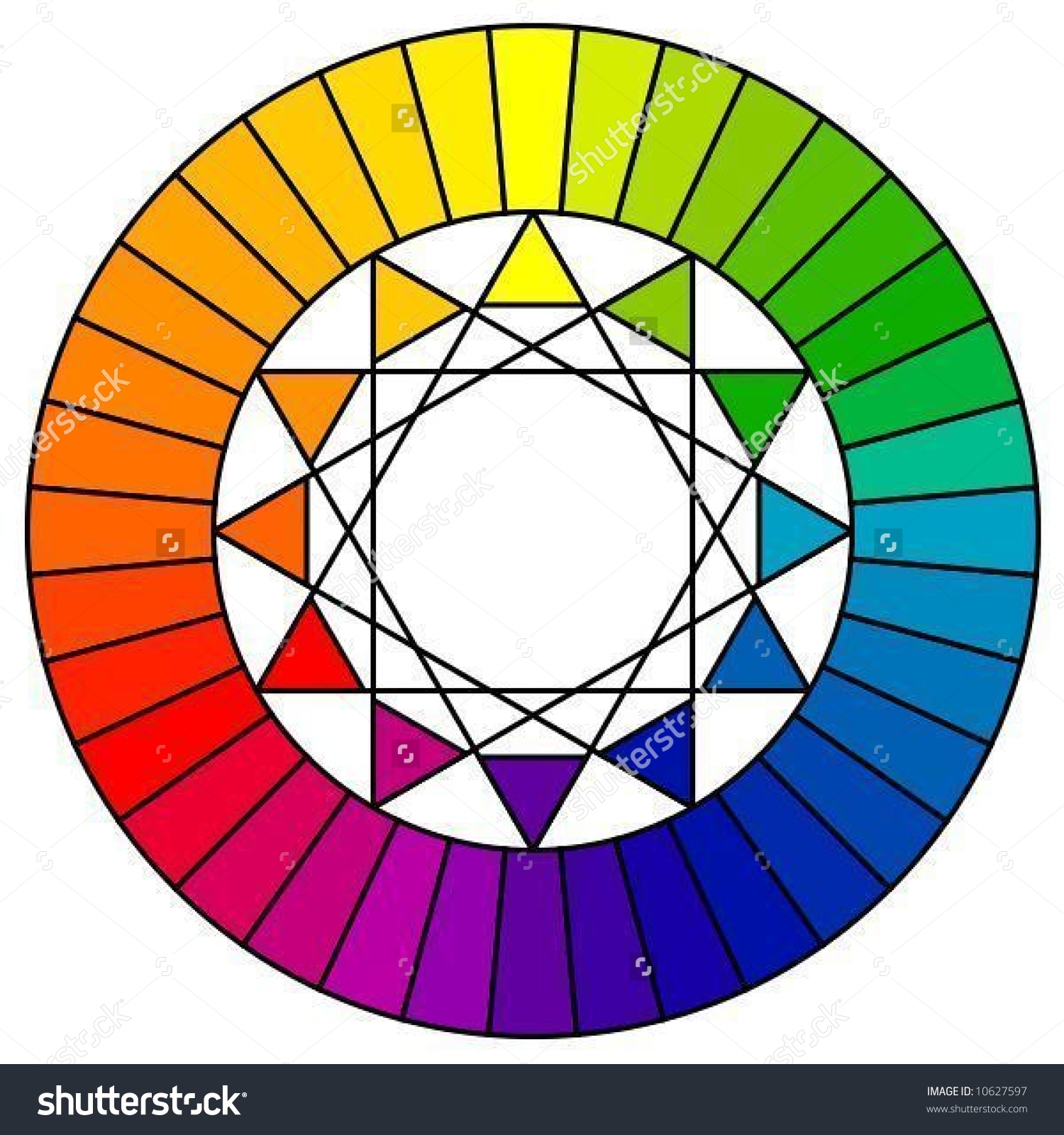 Color Wheel 36 Patterns Vector Stock Vector 10627597.